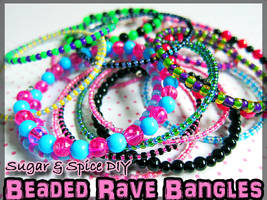 Beaded Rave Bangles by wickedland