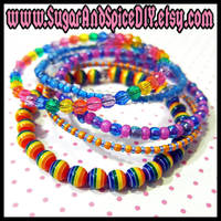 Carnival Rave Bangles by wickedland