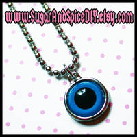 CREEPY CUTE Doll Eye Charm by wickedland