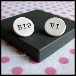 WICKEDLAND 'Death' Handmade Pin Badge Set by wickedland