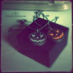 Halloween in Wickedland Pumpkin Pendant by wickedland