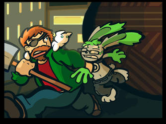 IF: Rabbit Chase by TheCrowchan
