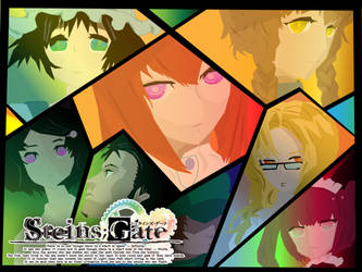 Steins Gate Vector Artwork by MewCocoa