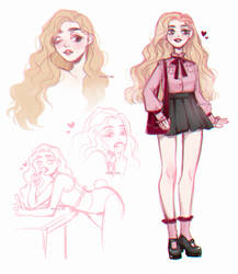{ character concept sketch dump | sugar } by prince-no