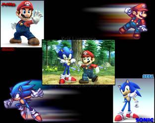 Sonic and Mario Wallpaper by KazarSanaga