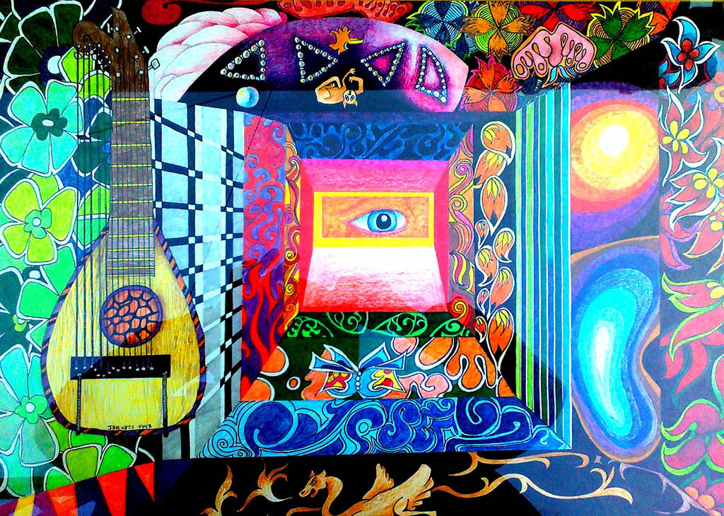 Psychedelic Henry by John-Baroque