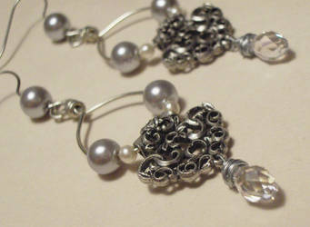 Night of the Titanic earrings by TheBrassGlass
