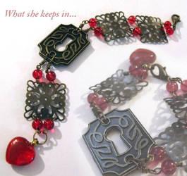What She Keeps In bracelet by TheBrassGlass