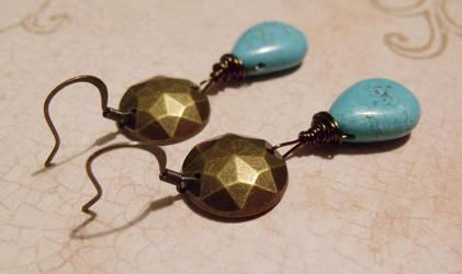 Aztek Priestess earrings by TheBrassGlass