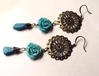 Esmeralda earrings by TheBrassGlass