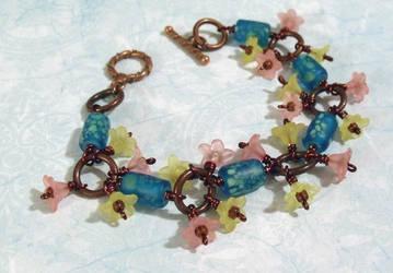 Monet's Lilypads bracelet by TheBrassGlass