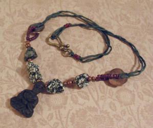 Buddha Meditation Necklace by TheBrassGlass