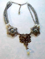 Fairy Queen Titania necklace by TheBrassGlass