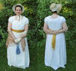 My Regency-Empire-War of 1812 dress by TheBrassGlass