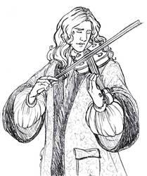 Andar plays violin by TheBrassGlass