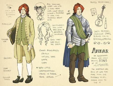 AUR character sheet - Andar by TheBrassGlass