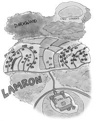 Commission - map of Lamron by TheBrassGlass