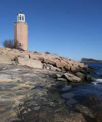 Avery Point Light by TheBrassGlass