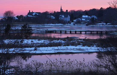 A winter sunset in New England by TheBrassGlass