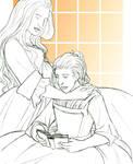 Sketchatember 12, 2018 - Reida and Leena by TheBrassGlass