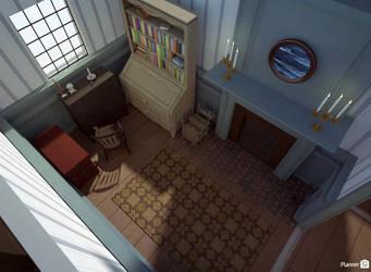 AUR - Franza's house (study) by TheBrassGlass