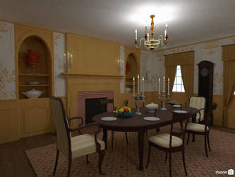 AUR - Manor Federick, dining room 1 by TheBrassGlass