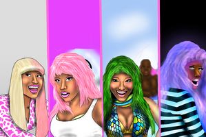 Nicki Minaj SUPER BASS by Ddog04