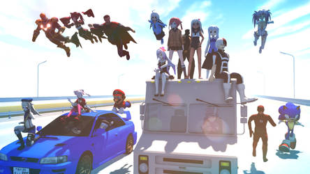 MMD You Ready - The chase and rideing by Chiba-Taiki