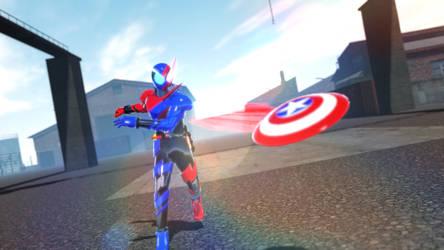 MMD Kamen Rider Build X Captain America by Chiba-Taiki
