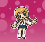 chibi schoolgirl by ikklesammy