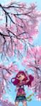 Day 05 - Sakura in Bloom by Noxmoony