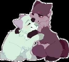 wolf hug by ellieSDF