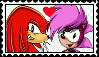 Knuckles x Sonia Stamp by Pegasister28
