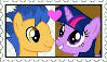 Flash Sentry x Twilight Sparkle Stamp by Pegasister28