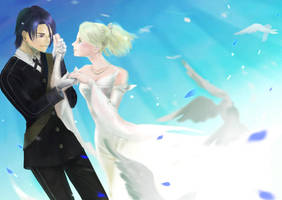 Wedding of Noctis and Lunafreya by n-i-b-a-n
