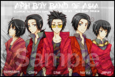 APH Boy Band of Asia by kanapy-art