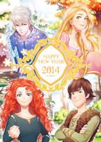 Happy New Year 2014! by kanapy-art