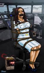 Navy Girl in Peril by Superheroine-Art