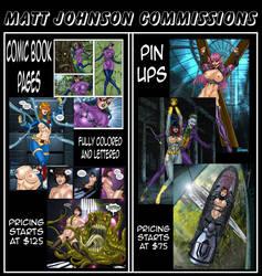 Matt Johnson Commissions Are Open by Superheroine-Art