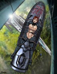 Mass Effect Shepherd in Peril by Superheroine-Art