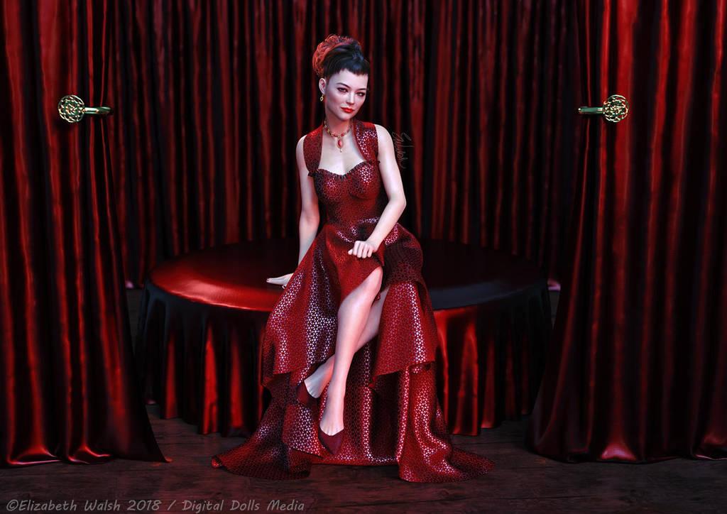 Lady In Red by Detniat