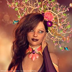 Flowers in her hair by Detniat