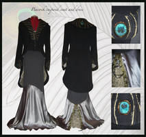Peacock coat and dress by thegreengoblin86
