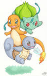 One, two, three starters : GO ! by Tenshi--no--yume