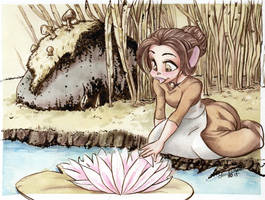 Piper and the Waterlilly by TerriTheSketcher