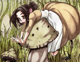 Among the Fungus by TerriTheSketcher