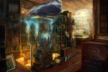 Moby-Dick : The Antiquarian Bookstore by SamVerdegaal