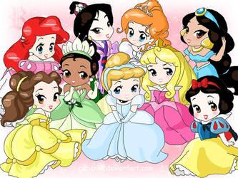 Chibi-Disney Princesses by rebenke