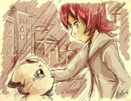 Eva and Irbimon by ashflura