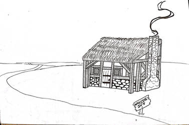 Inktober 2018: Day 18 Inn in the Middle of Nowhere by LizDoodlez